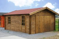 Holzgarage als Kompromiss zwischen Carport und Garage