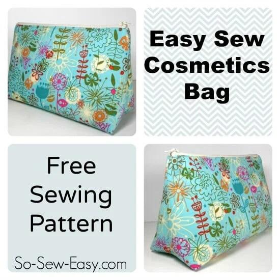 Easy Cosmetics Bag Pattern So Sew