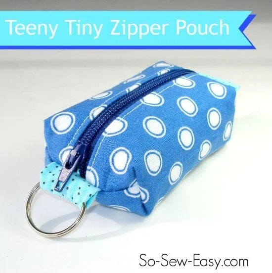 Teeny Tiny Zipper Pouch from So-Sew-Easy.com