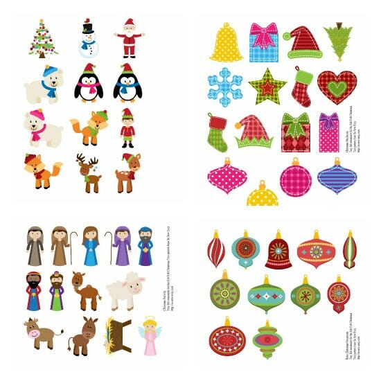 Christmas Tree Decorations Cut Outs