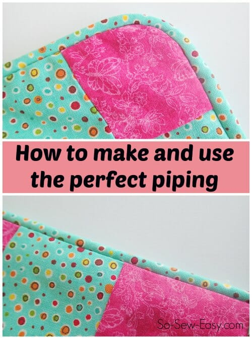 How to Make Piping - Sewing Tutorial
