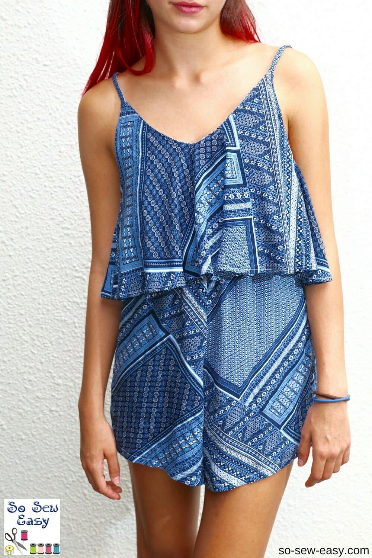 Salina Flounce Romper - Free Sewing Pattern