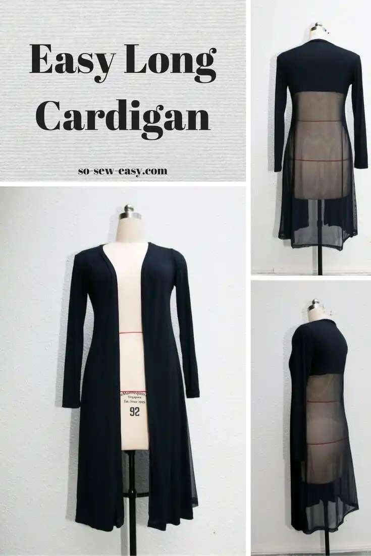 Women's Long Cardigan - Free Sewing Pattern