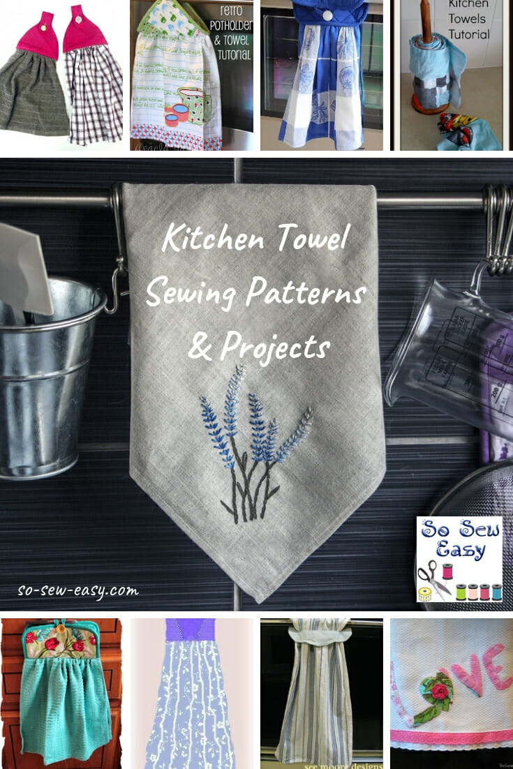 kitchen towel dark walnut cabinets 85 sewing patterns projects so sew easy