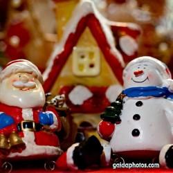 Weihnachtsmann, Santa Claus, Nikolaus, Schneemann