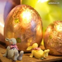 Ostern, Osterhase, Osterei, gelb