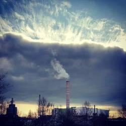 Bonn, Heizkraftwerk, Unwetter, Wolken