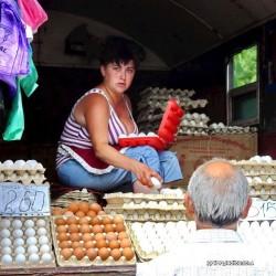 Markt, Eier, Ukraine