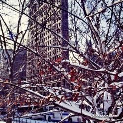 Flatiron Building, USA, NY, Schnee, Winter