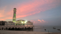 Floating Mosque Sunset