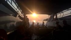 Sunset bei der Rückkehr nach Ranong