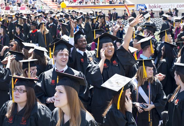 2012 University Commencement at Lane Stadium.