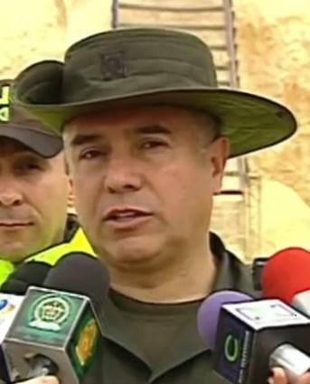 Coronel Héctor Enrique Páez Valderrama, quién dirigió el operativo.