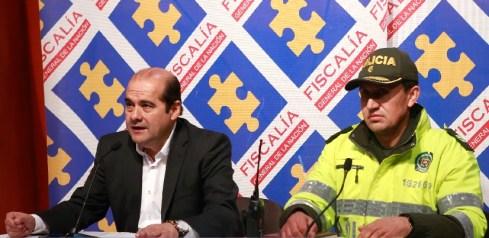 Rueda de prensa de Luis González León, Director Nacional de Seccionales y Seguridad Ciudadana Luis González León y el coronel Pedro Carpio de la Policía de Cundinamarca.