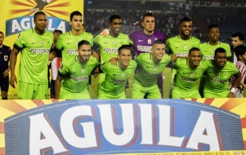 Atlético Nacional campeón Copa Colombia 2016: Arriba: Alexis Henríquez, Felipe Aguilar, Orlando Berrío, Franco Armani, Miguel Borja y Andrés Ibargüen. Abajo: Juan Pablo Nieto, Diego Arias, Mateus Uribe, Macnelly Torres y Farid Díaz.
