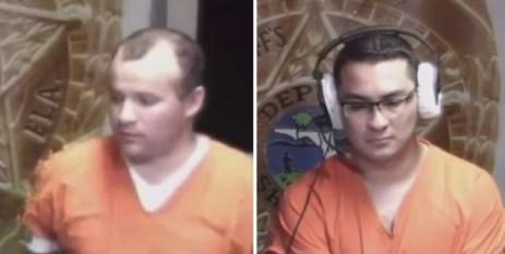 Con los uniformes anaranjados de presos, ambos sacerdotes comparecieron ante la Corte de Fianza de Miami Dole