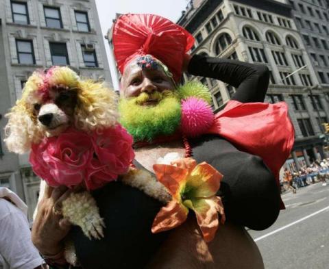 La Miss Colombia barbuda era todo un personaje en Nueva York. Foto: Getty Images