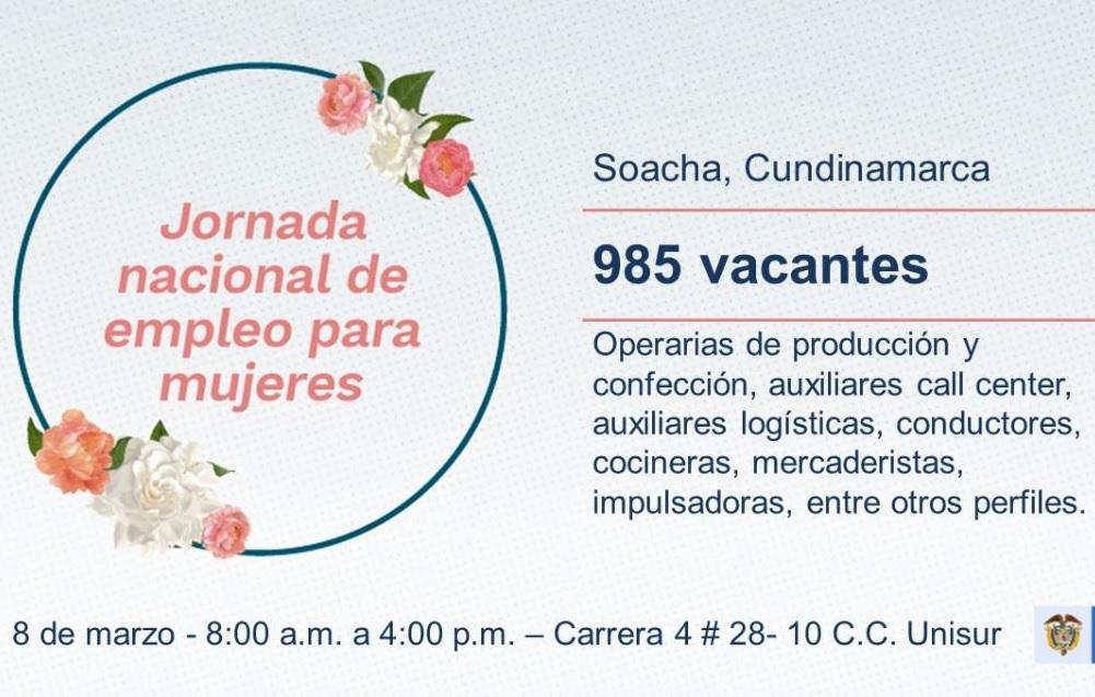 6b6823ba830 SENA realizará jornada de empleo y emprendimiento en Soacha este 8 de marzo