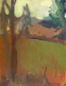 22. Janet Byer Sherman Hillside from Studio Window Oil on canvas 16