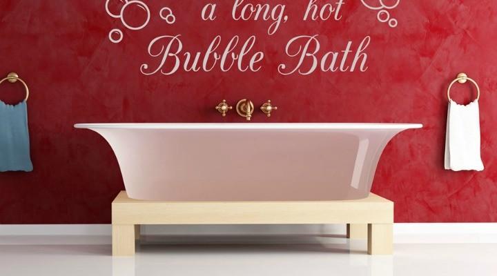 Bathroom Wall Sticker Inspirational Quote Ideas