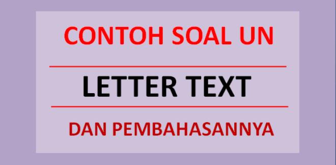 Contoh soal UN letter text