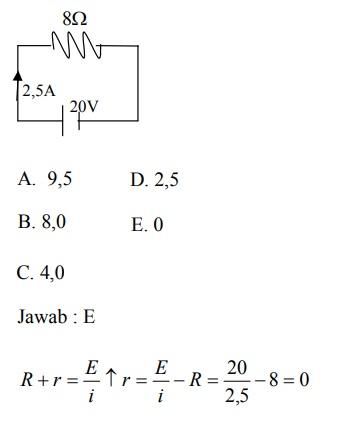 Contoh Soal Arus Listrik : contoh, listrik, Rangkaian, Searah, Pilihan, Ganda, [+Kunci, Jawaban]