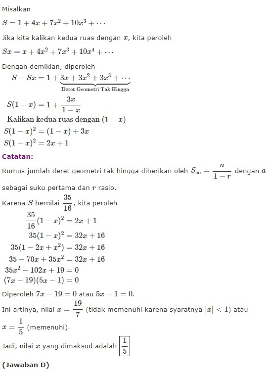 Contoh Soal Deret Geometri : contoh, deret, geometri, Contoh, Deret, Geometri, Hingga, Berbagai