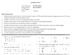Prediksi ujian nasional matematika sma 2008