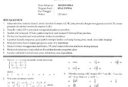 Prediksi Soal Ujian Nasional SMA 2008