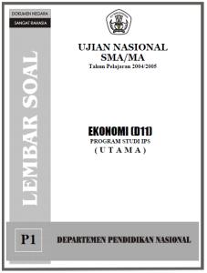 Soal ujian nasional ekonomi sma ips