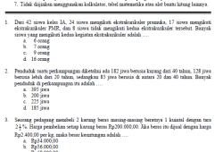 Soal Ujian Nasional SMP 2003