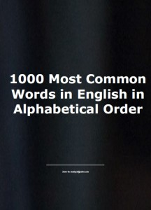 1000 most common words in english