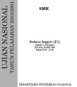 Soal UN bahasa inggris SMK