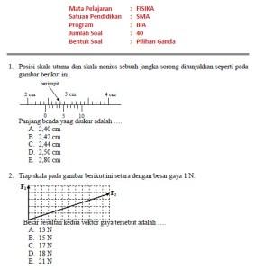Soal Latihan Fisika dan Pembahasan SMA