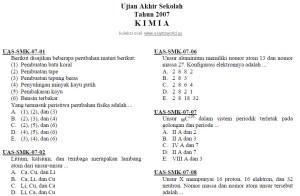 Soal UN Kimia SMK 2003-2007
