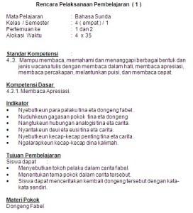 RPP Bahasa Sunda SD