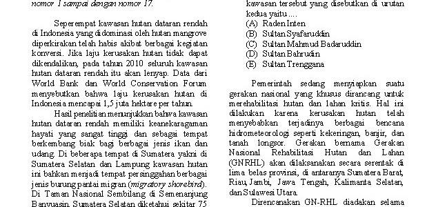 Soal Prediksi SNMPTN IPS 2012