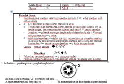 Soal Tryout Ujian Nasional SMP 2012