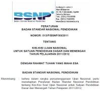 Kisi-kisi ujian nasional 2012