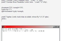 Kumpulan Source Code Bahasa C Sederhana