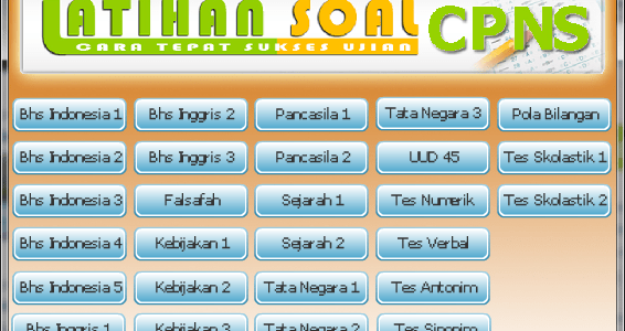 Software Latihan Soal CPNS All in One
