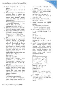100 soal dan pembahasan matematika UN