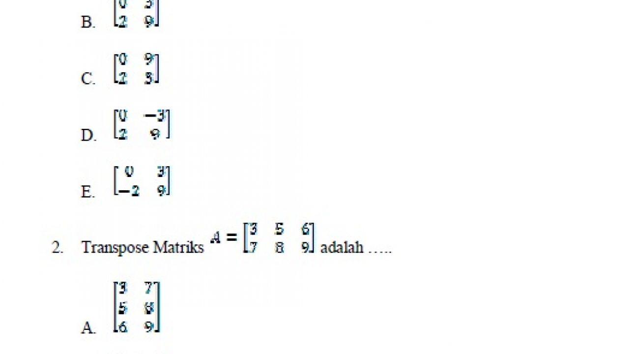 Tes deret angka, tes angka berkolom, tes aritmetika, tes matematika tes ini biasanya berkaitan dengan kombinasi operasi dasar berhitung. Soal Ujian Akhir Semester Matematika Kelas Sma Kelas X Soalujian Net