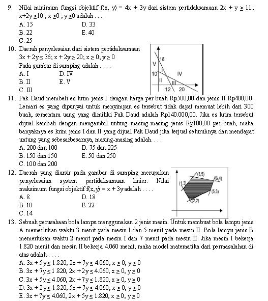 Soal Matematika SMA Kelas X beserta Kunci Jawabannya