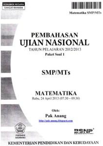 Soal UN Matematika SMP 2013