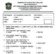 Soal Ujian Semester IPS SD kelas 1