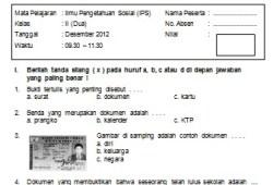 Soal Ujian Semester Ganjil IPS SD Kelas 2 2012