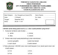 Soal Ujian Semester IPS kelas 4