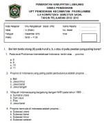 Soal Ujian Semester IPS kelas 6