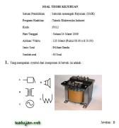 Soal Ujian Nasional Kejuruan SMK Teknik Elektronika Industri
